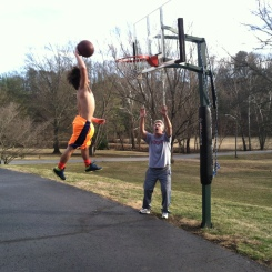 Connor with the slam dunk!