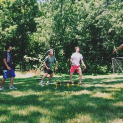 Spikeball with the boys.