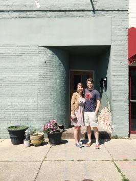 Outside the loft: Laurel, MS