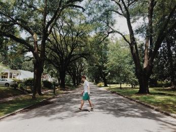 Jesse during his visit to Laurel.