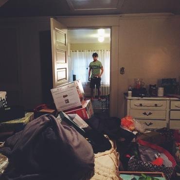 Returning from our honeymoon: Lynchburg, VA